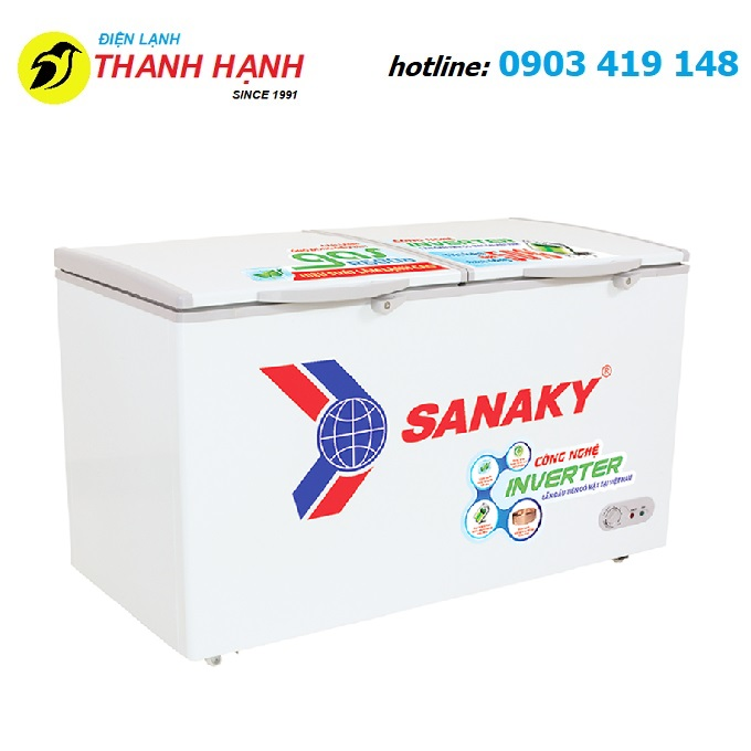 Tủ đông Sanaky inverter 250 Lít VH-2899W3
