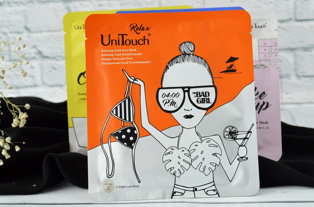 UniTouch mask bad girl - relaxing gold face mask
