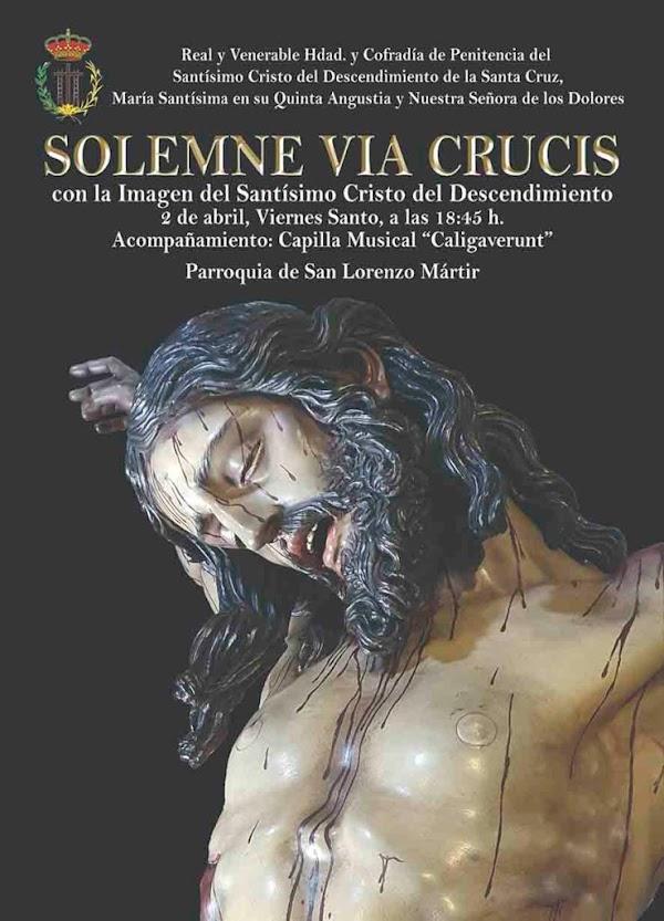 Descendimiento de Cádiz realizará un viacrucis el Viernes Santo