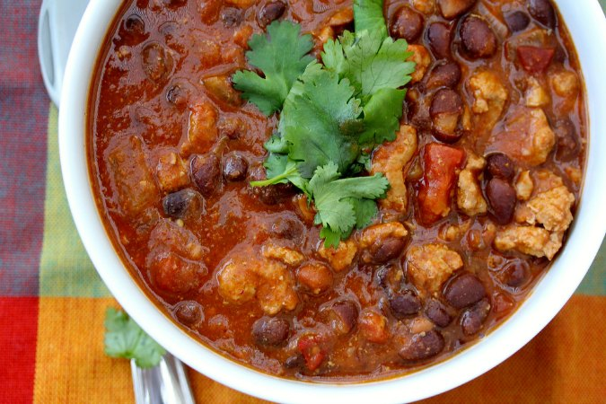 Turkey Chili made in the slow cooker