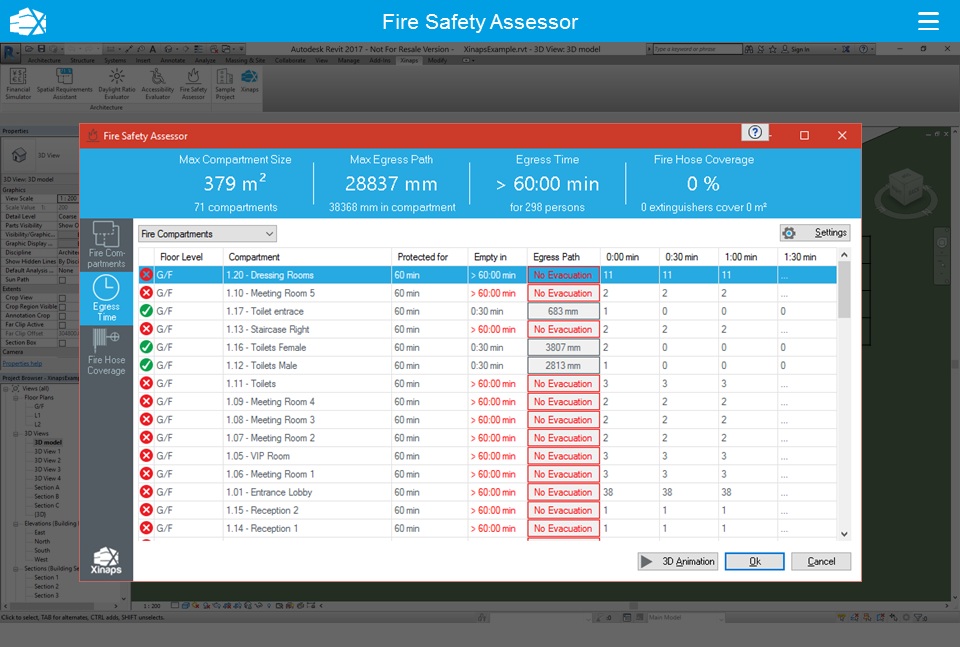 Revit Add-Ons: Fire Safety Assessor Initial Commercial