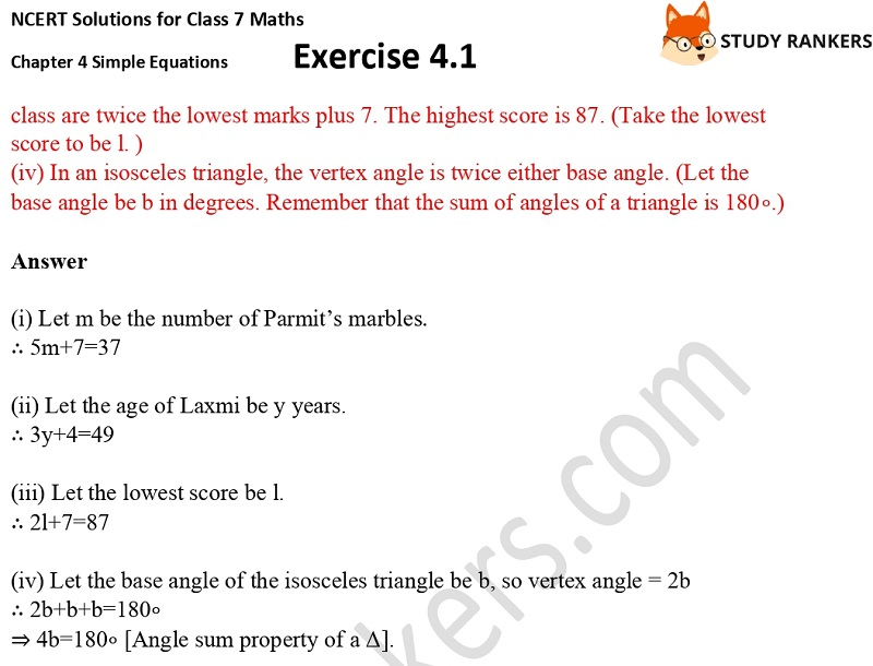 NCERT Solutions for Class 7 Maths Ch 4 Simple Equations Exercise 4.1 6