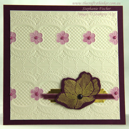 #thecraftythinker  #stampinup  #sneakpeek  #laceembossingfolder  #cardmaking , Sneak Peek, Lace Embossing Folder, Beautiful Promenade, Stampin' Up Australia Demonstrator, Stephanie Fischer, Sydney NSW