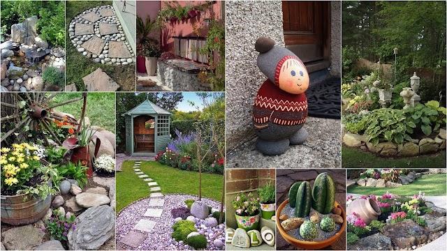 Διαμορφώσεις και Κατασκευές για κήπους-αυλές με Βότσαλα και Πέτρες