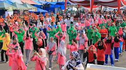 Jalan Santai Meriahkan HUT Bhayangkara di Rimbo Bujang