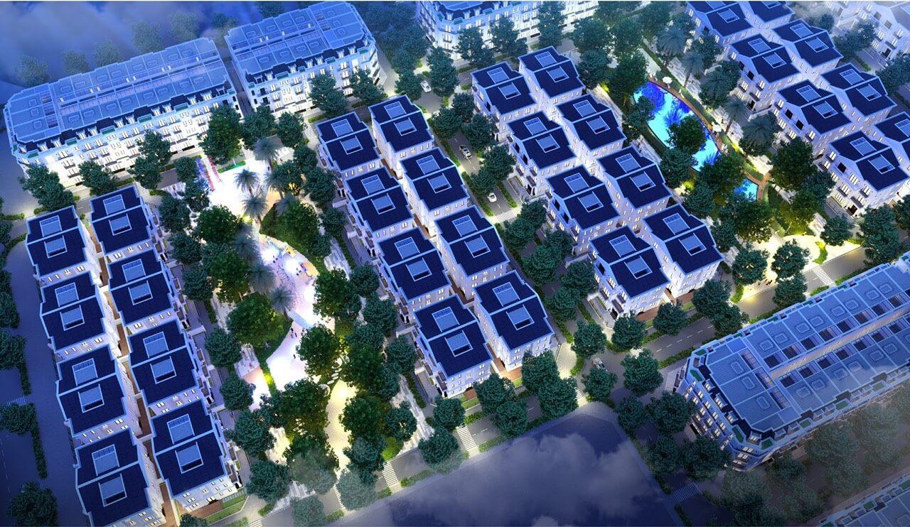 Nội khu đô thị Eurowindow Twin Parks Gia Lâm.