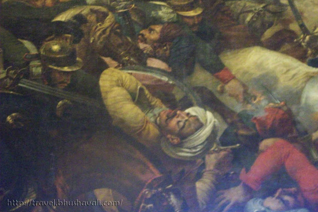 Palace of Versailles Coronation Room Painting of Battle of Aboukir detail of Indian soldier