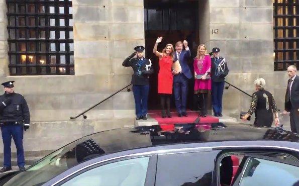 Queen Maxima wore NATAN Dress - Edouard Vermeulen Fall Winter 2016. Princess Beatrix, Princess Mabel, Princess Laurentien