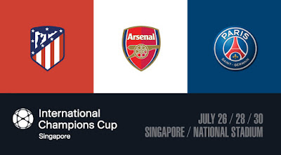 Source: Sports Hub website. Three football clubs will be playing against each other at the 2018 International Champions Cup in Singapore on July 26, 28 and 30.