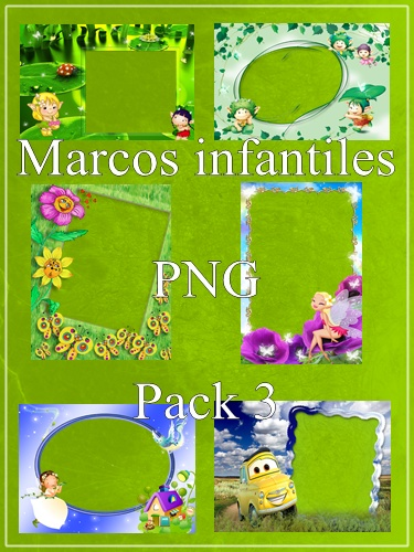 Marcos infantiles PNG - Pack 3 [Deposit Files]