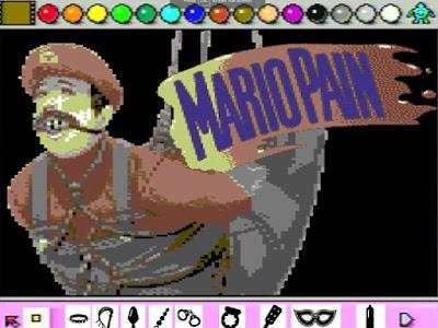 لعبة ماريو الرسام