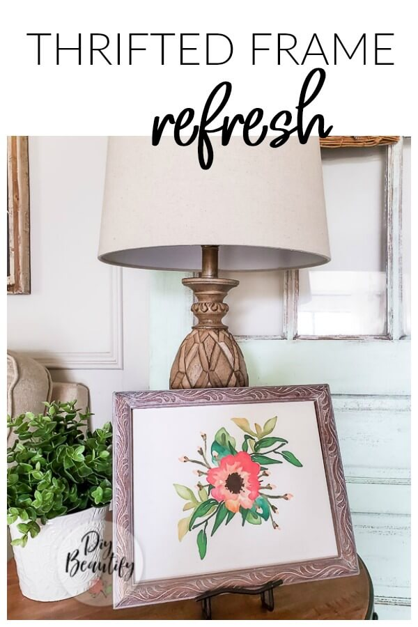 thrifted frame farmhouse vignette