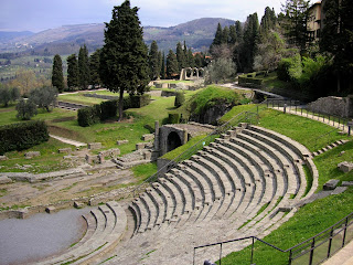 The remains of the Roman amphitheatre at Fiesole