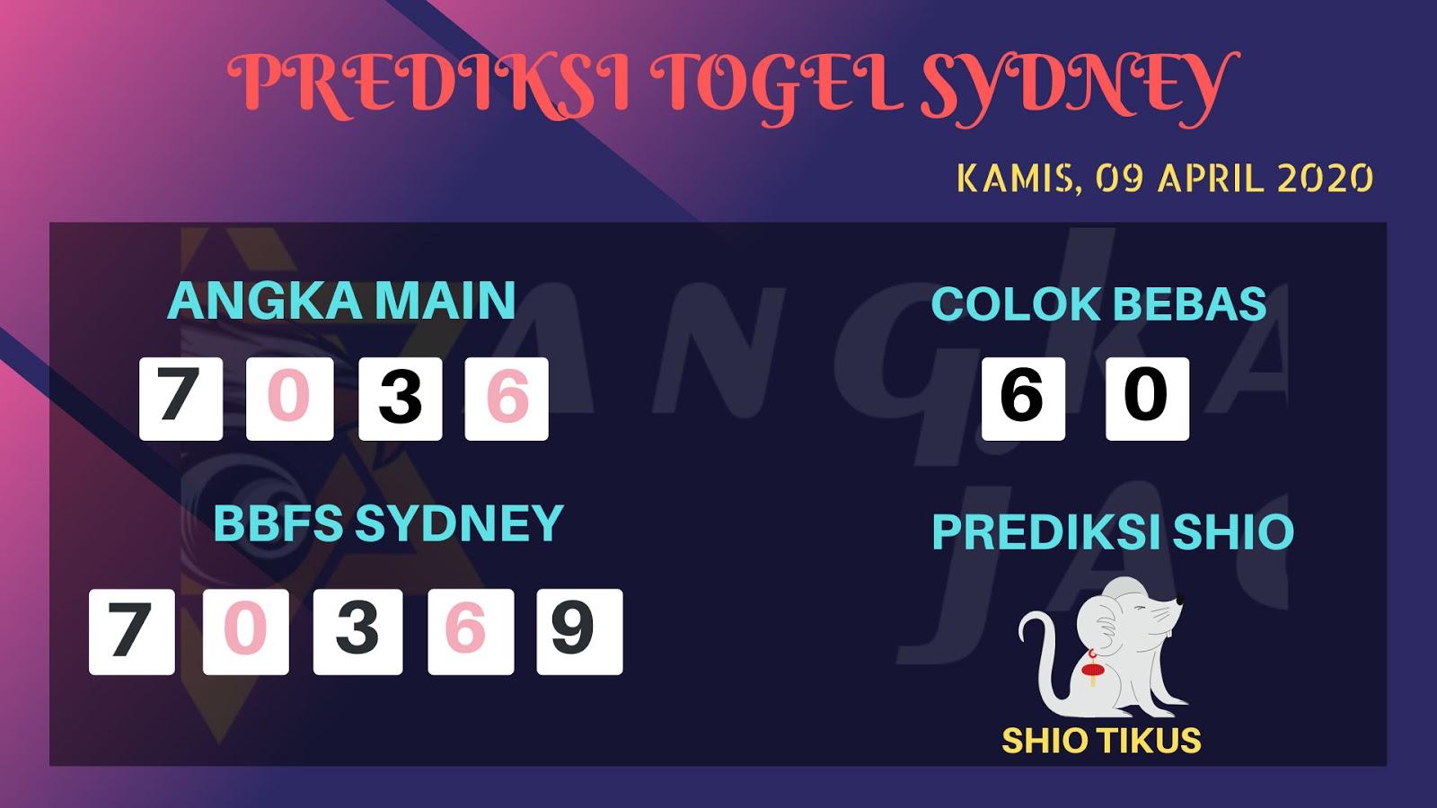 Prediksi Togel Sidney Kamis 09 April 2020 - Prediksi Angka Sidney
