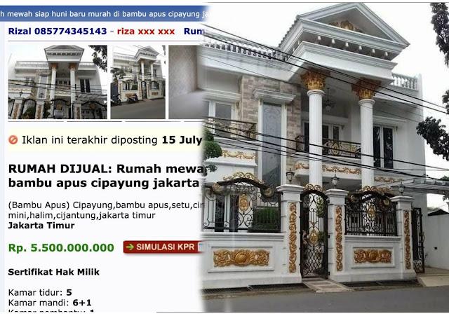 Anies Difitnah Dapat Rumah Mewah dari Pengembang, Ternyata Buzzer Comot Foto dari Situs Jual Beli