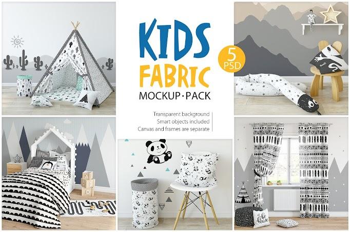 KIDS Fabric Mockup Pack - 1
