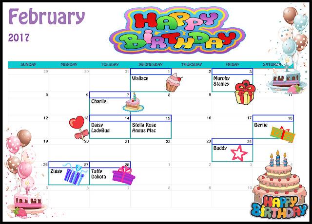 Feb Birthdays
