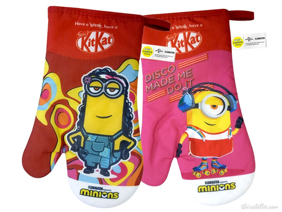 New KITKAT Choco Banana Flavour with Minions oven mittens