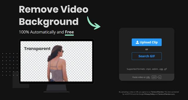 rimozione dello sfondo dai video e dalle gif