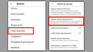 Cara Menghapus Histori Pencarian di YouTube