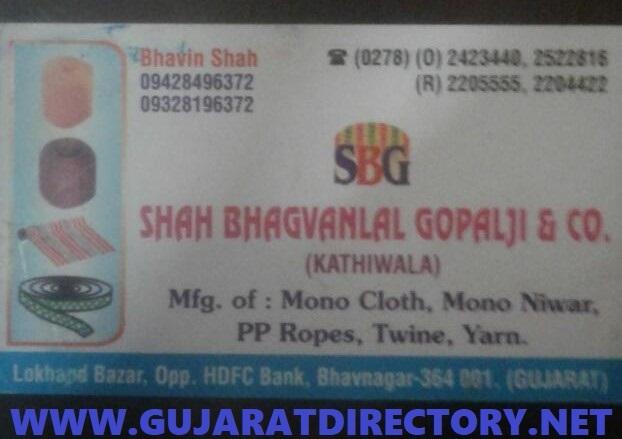 SHAH BHAGVANLAL GOPALJI & CO. - 9428496372 9328196372