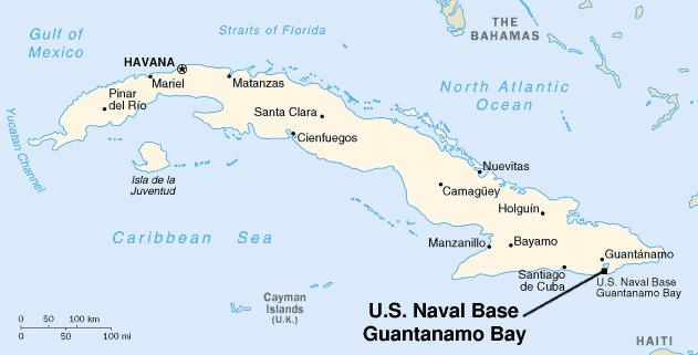 Resultado de imagem para localização cuba guantanamo