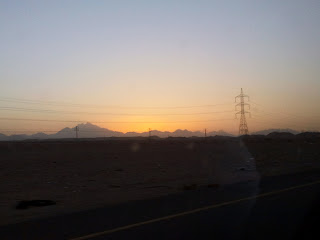 Sunset from a desert road in Egypt
