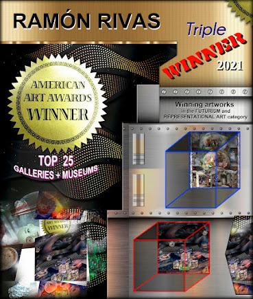 Las obras de arte de Ramón Rivas, que le han hecho Triple-Ganador del AMERICAN ART AWARDS 2021