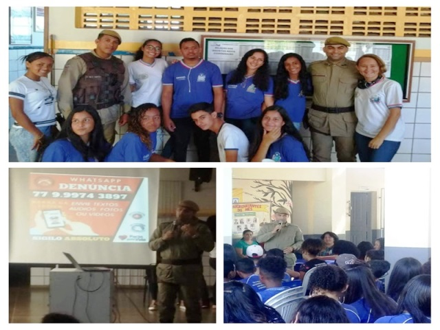 34ª CIPM realiza ciclo de palestras nas escolas públicas de Barra da Estiva
