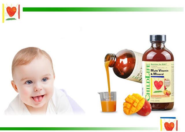 Childlife multi vitamin & mineral có chứa 20 loại vitamin và khoáng chất