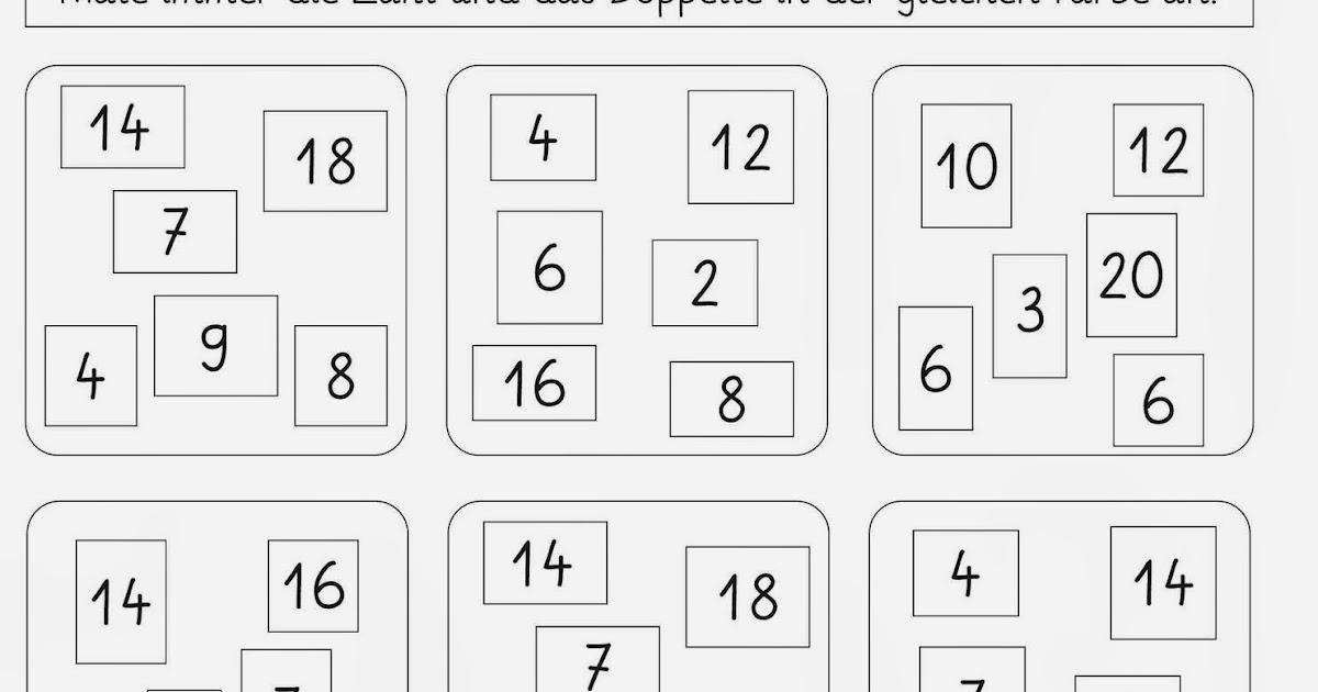 Lernstübchen: Verdoppeln - Arbeitsblätter (2)