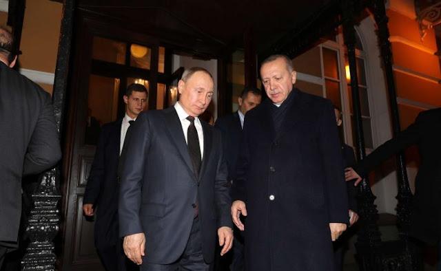 """Ο Πούτιν έβαλε """"τα δύο πόδια σ΄ ένα παπούτσι"""" στον Ερντογάν"""