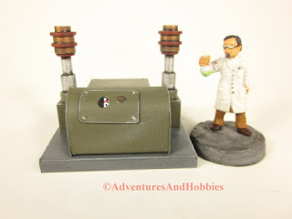 T1576 Control Console 25-28mm scale laboratory miniature game scenery - front view - UniversalTerrain.com