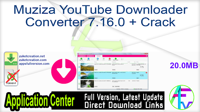 Muziza YouTube Downloader Converter 7.16.0 + Crack