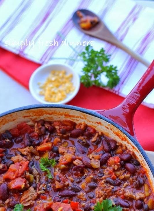 Healthy Turkey Chili : simplyfreshdinners.com