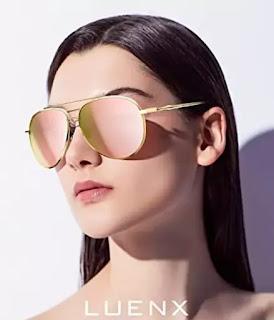 LUENX aviator sunglasses for women