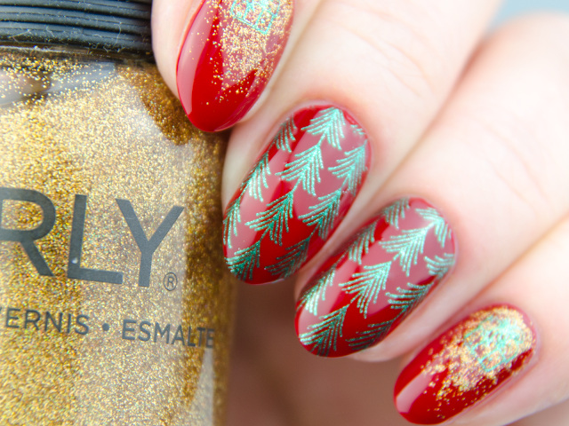Orly Stiletto on the Run winter nails