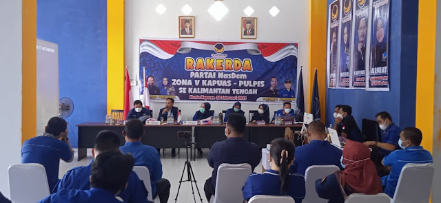 Cek Kesiapan Struktur Partai Nasdem Gelar Rakerda Zona V Kapuas - Pulpis