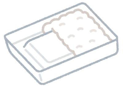 底上げのお弁当のイラスト(ご飯あり)