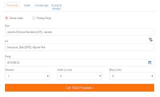 Jual Tiket Online Seluruh Maskapai Indonesia