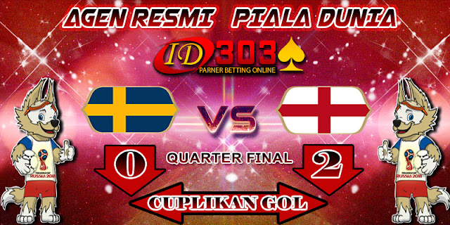 CUPLIKAN GOL SWEDEN 0 - 2 ENGLAND