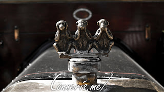 Hear See Speak No Evil Hood Ornament