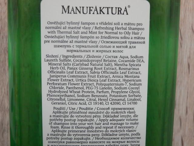 šampón manufaktura, recenze blog manufaktura