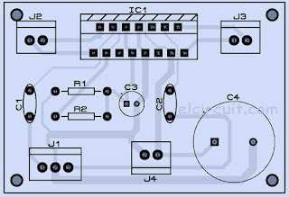 PCB Layout Design Power Amplifier TDA7297