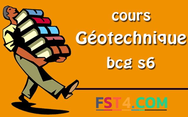 Cours Géotechnique bcg s6 pdf