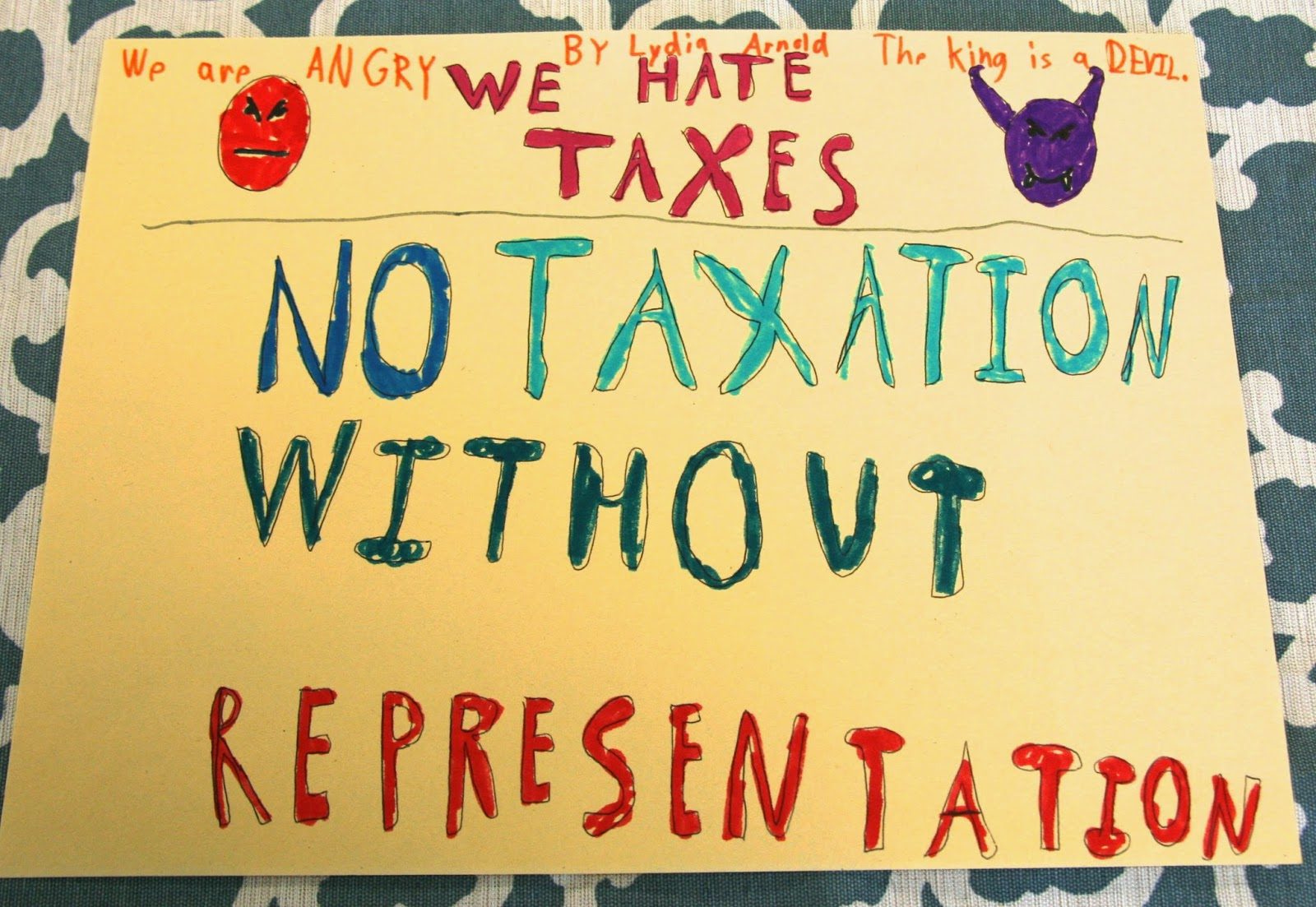 Who S Who And Who S New Revolutionary War Activity No Taxation Without Representation