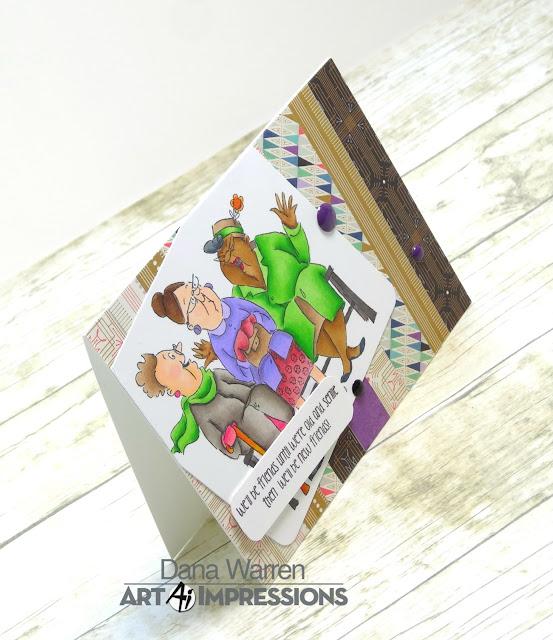 Dana Warren - Kraft Paper Stamps - Art Impressions - Spectrum Noir