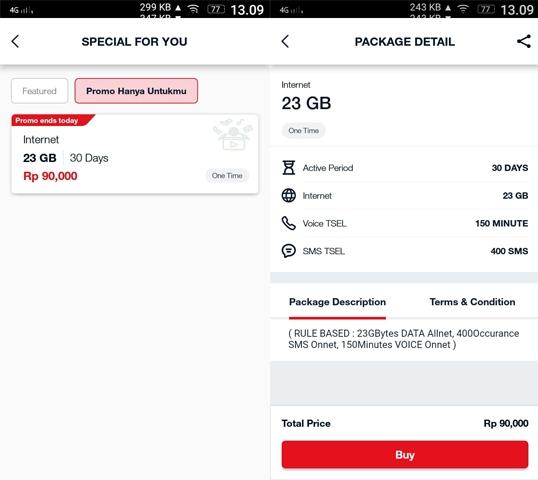 Rincian Kuota Paket Internet Telkomsel 23GB 90.000
