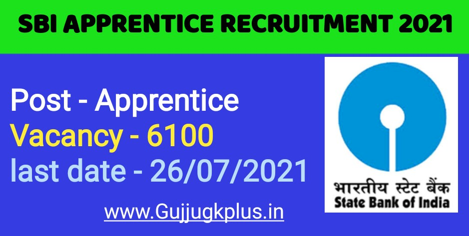 SBI Apprentice Recruitment 2021 | Find here Eligible Criteria and Last date