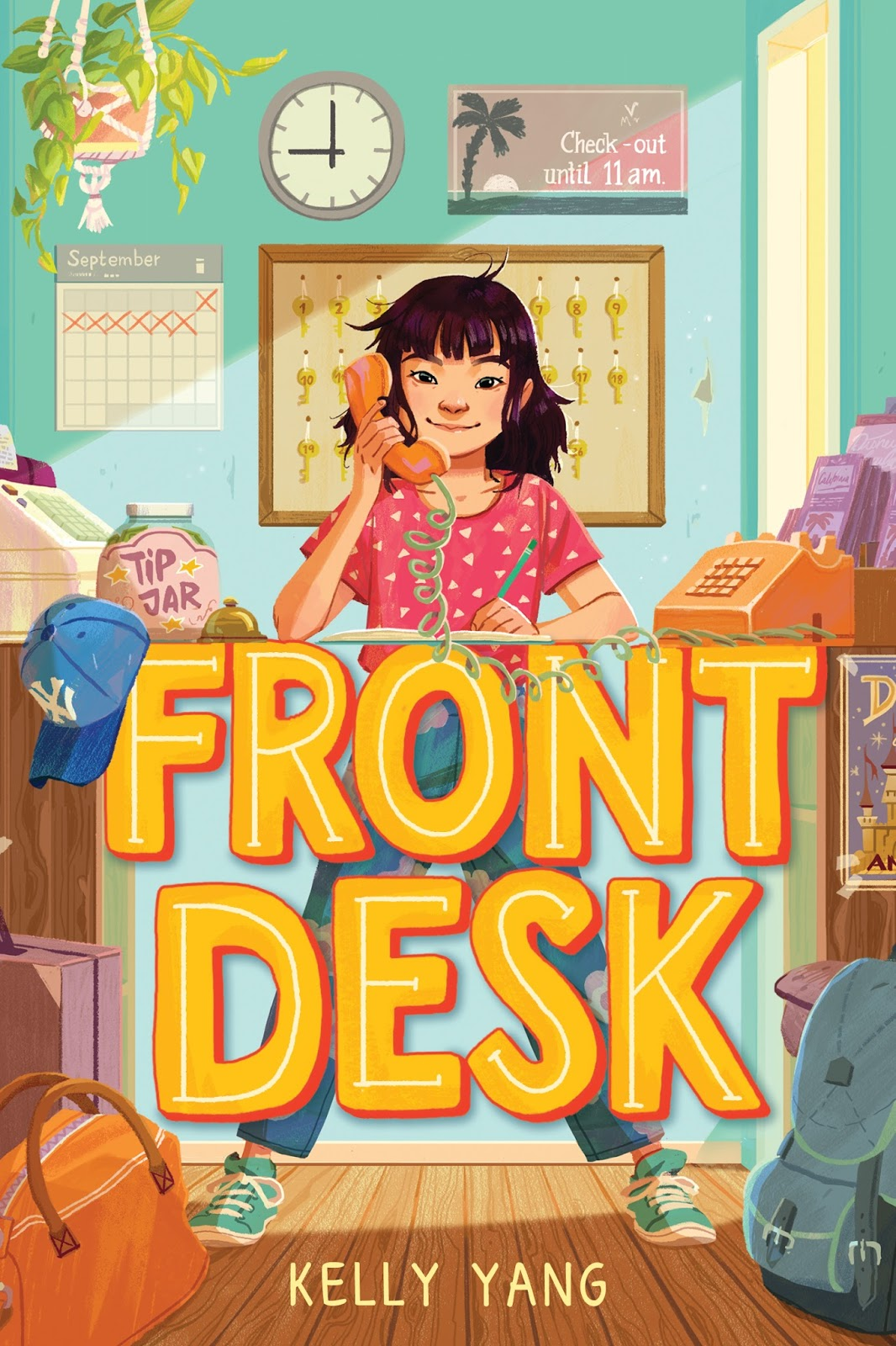 Cover Reveal Front Desk by Kelly